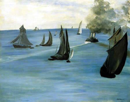 Edouard Manet - Hafenausfahrt von Boulogne