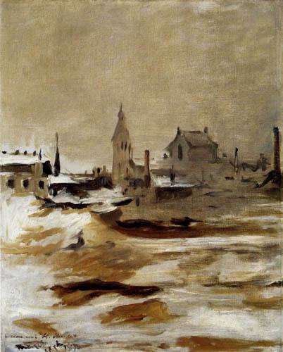 Edouard Manet - Petit-Montrouge im Schnee