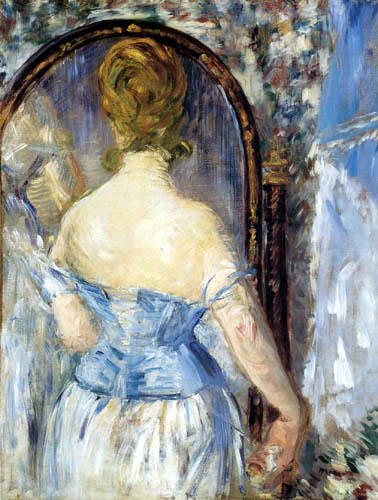 Edouard Manet - Frau vor dem Spiegel