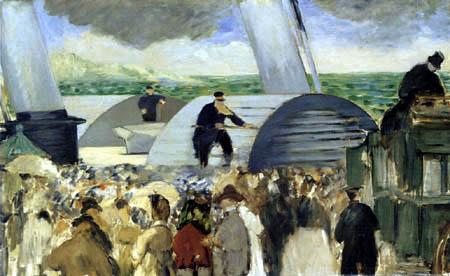 Edouard Manet - Abfahrt des Dampfschiffes
