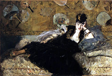 Edouard Manet - Die Dame mit Fächern