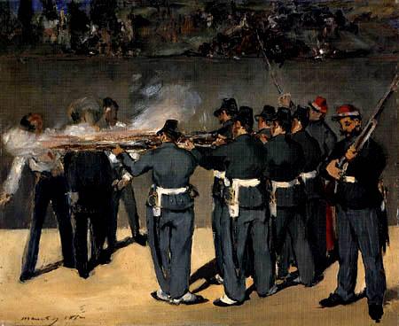Edouard Manet - Die Erschießung Kaiser Maximilians III