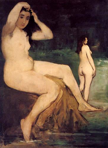 Edouard Manet - Badende am Seineufer