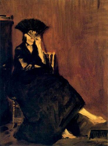 Edouard Manet - Berthe Morisot mit Fächer