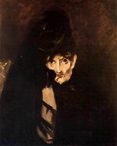 Edouard Manet - Beerthe Morisot mit Hut, in Trauer