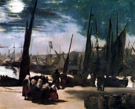 Edouard Manet - Der Hafen von Boulogne im Mondschein