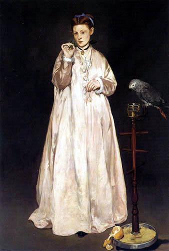 Edouard Manet - Die Dame mit dem Papagei