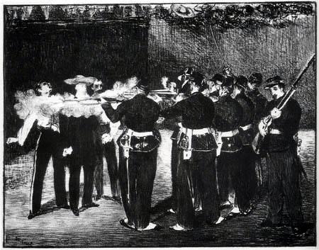 Edouard Manet - Die Erschiessung Kaiser Maximilians von Mexico