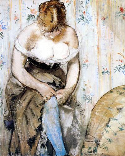 Edouard Manet - Frau mit Strumpfband