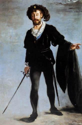Edouard Manet - Jean-Baptiste Faure als Hamlet