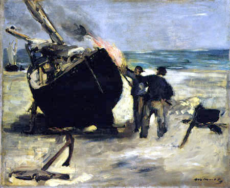 Edouard Manet - Kalfaterer bei der Arbeit