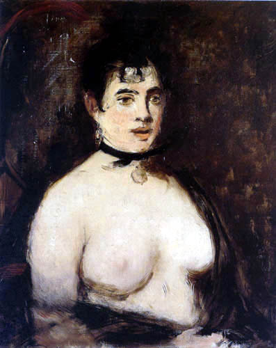 Edouard Manet - Die Brünette mit entblössten Brüsten