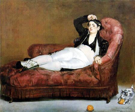 Edouard Manet - Liegende Frau im spanischen Kostüm