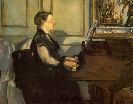 Edouard Manet - Madame Manet am Klavier