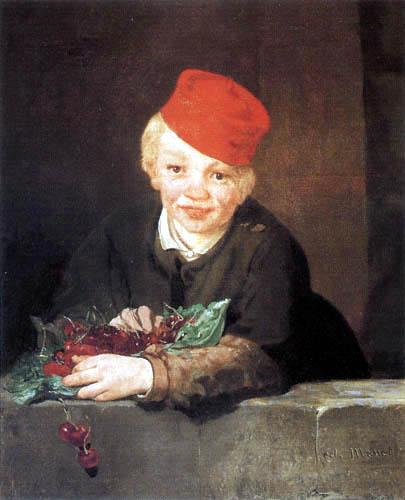 Edouard Manet - Junge mit Kirschen