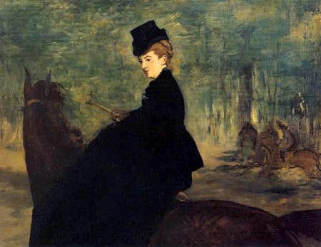 Edouard Manet - Porträt Marie Lefébure, die Amazone