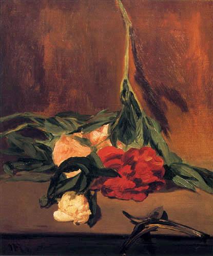 Edouard Manet - Pfingstrosen und Gartenschere