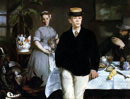 Edouard Manet - Frühstück im Atelier
