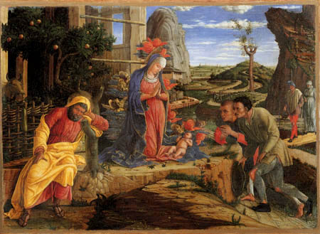 Andrea Mantegna - Adoration of the shepherds