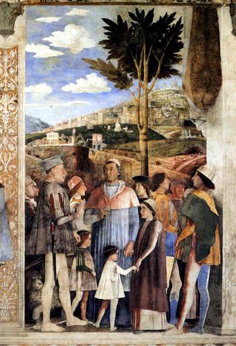 Andrea Mantegna - Markgraf Ludovico und der Kardinal Francesco