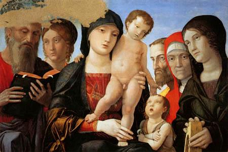 Andrea Mantegna - Madonna mit Kind und Heiligen