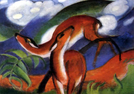 Franz Marc - Red deers II