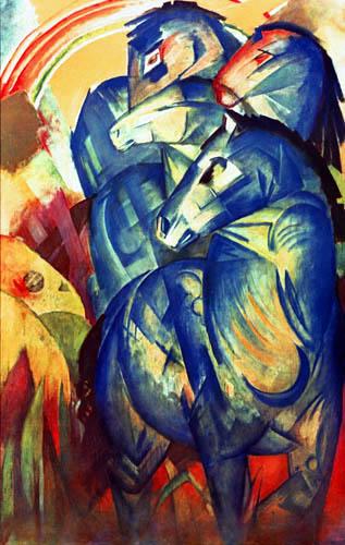 Franz Marc - Turm der blauen Pferde