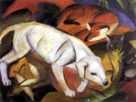 Franz Marc - Dog, fox and cat