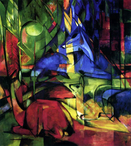 Franz Marc - Deers in the forest II