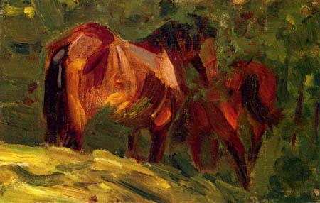 Franz Marc - Horse study II