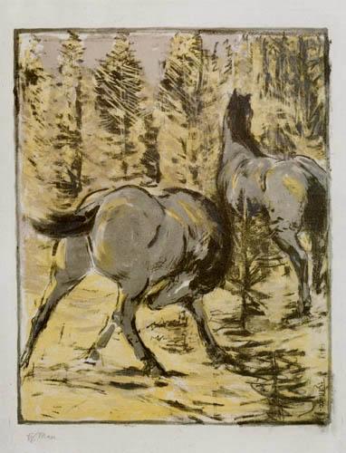 Franz Marc - Pferde in der Sonne