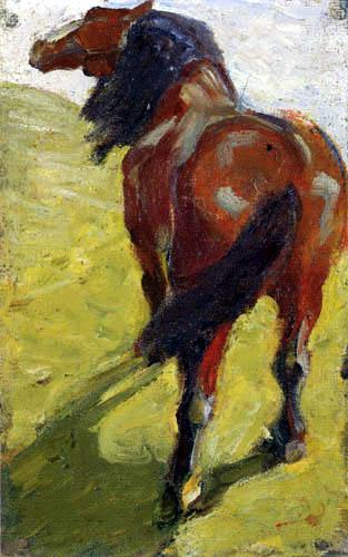 Franz Marc - Horse study