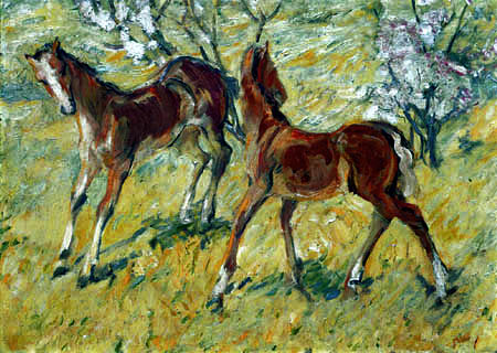 Franz Marc - Foal on the pasture