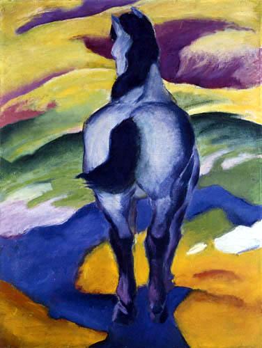 Franz Marc - Blue horse II