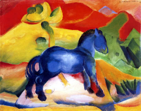 Franz Marc - A little blue horse