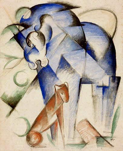 Franz Marc - Pferd und Hund