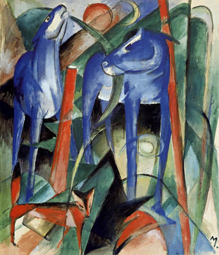 Franz Marc - Creation of the horses