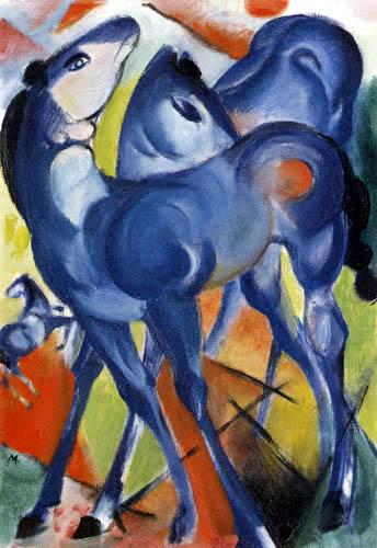 Franz Marc - Blue foals