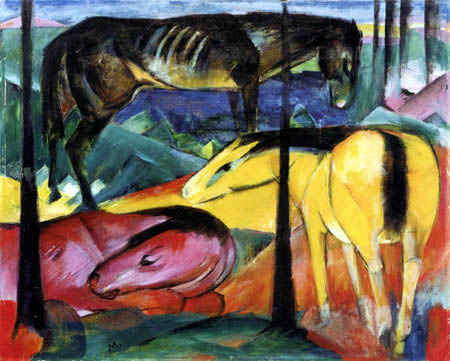 Franz Marc - Three horses I