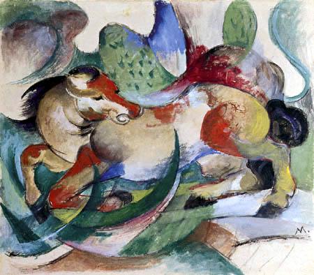 Franz Marc - Jumping horse