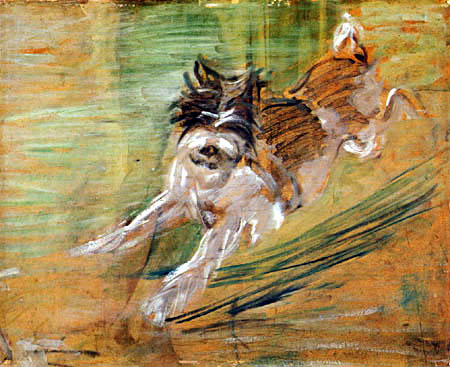 Franz Marc - Jumping dog