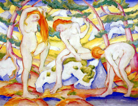Franz Marc - Womans, bathing