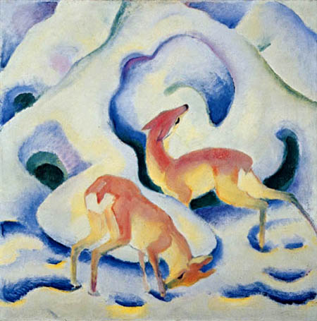 Franz Marc - Deer in snow