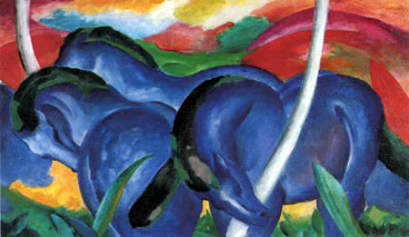 Franz Marc - The large blue horses