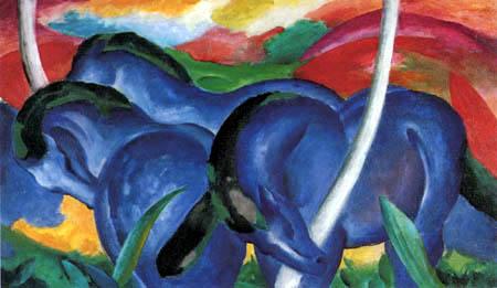 Franz Marc - Die großen blauen Pferde