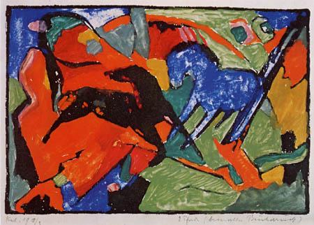Franz Marc - Zwei Pferde