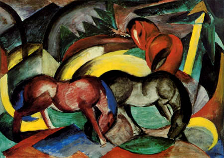 Franz Marc - Three horses