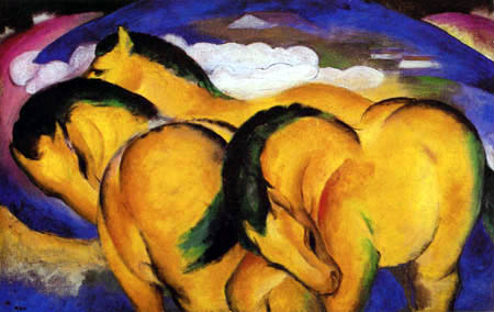 Franz Marc - The little yellow horses