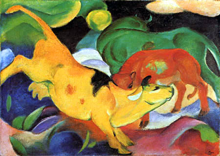 Franz Marc - Cows red, green, yellow
