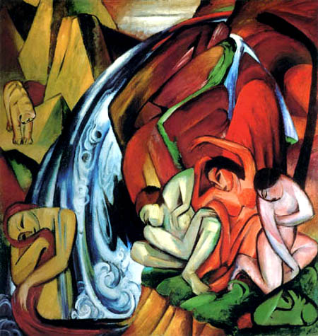 Franz Marc - Waterfall